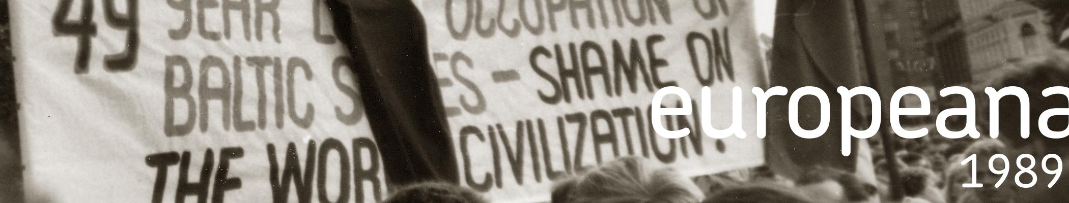 Baltischer Weg - Fotos von der Demonstration in Riga 23.08.1989 Item 5